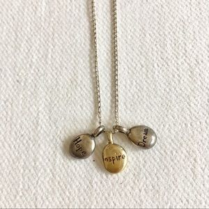 Dogeared Sterling and 14k Gold charm necklace.